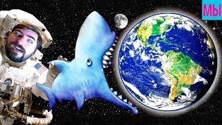 Tasty Blue ФИНАЛ АКУЛА СЪЕЛА ЗЕМЛЮ Новые бонусные уровни мульт игра для детей Мы играем Фани Фемели