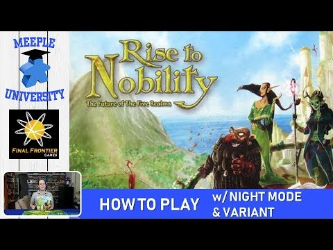 """Rise to Nobility Board Game – How to Play (Full Rules), with Night Mode """"In the Pale Moonlight""""and Short Variant"""