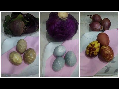 Βάψτε φυσικά τα Πασχαλινά αυγά