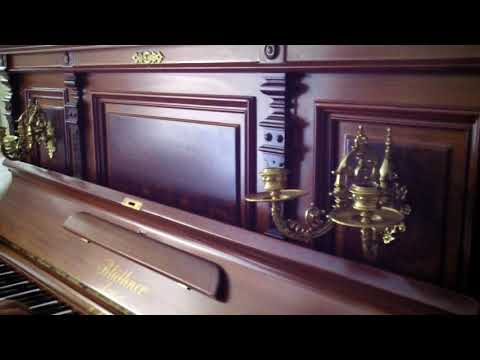 0 - Amazing German Bluthner  vertical  grand piano and Steinway stool.