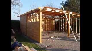 Garaż drewniany Spółdzielnia Socjalna Siedlisko