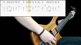 Metallica   One (Bass Only) (Play Along Tabs In Video)