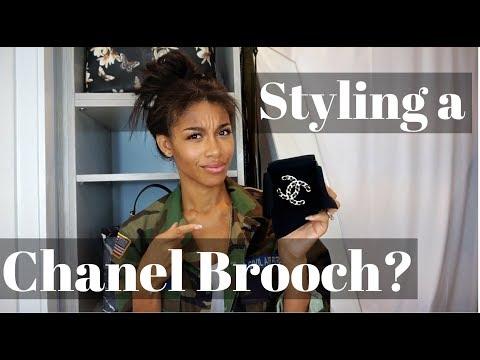 HOW TO WEAR A BROOCH | ft. Chanel 2017 Woven Lambskin CC Brooch  |  KWSHOPS