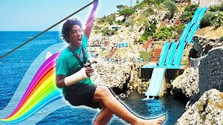 Can I One Handed Giant WaterSlide?!!!
