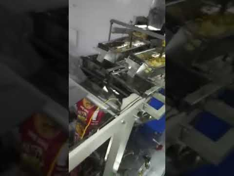 2 Head Collar Type Potato Chips Packaging Machine