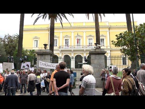 VIDÉO. CET de Giuncaggio : le collectif Tavignanu Vivu manifeste à Ajaccio