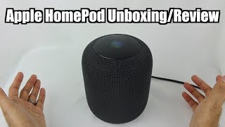 Apple HomePod Space Gray Unboxing/Review
