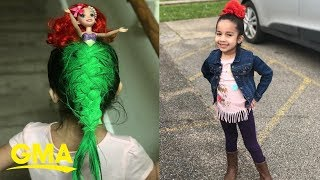 This little girl's 'Little Mermaid' hair is something you have to 'sea' to believe