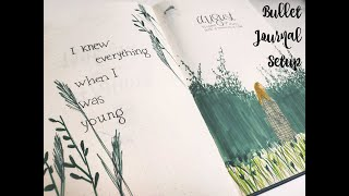August 2020 Bullet Journal Setup | Taylor Swift Folklore Theme | lilyxstudies