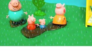 Мультфильм игрушками Свинка Пиги Pig Дождливый день