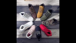 dc4e712c0cc6 DADAWEN Women s Lace Up Low Heel Work Combat Boots Waterproof Ankle Bootie