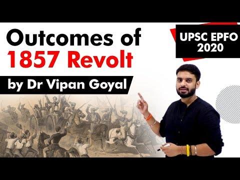 Outcomes of 1857 revolts l Dr Vipan Goyal l Study IQ