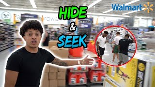HIDE AND SEEK IN WALMART | We Got Kicked Out By The Cops !!