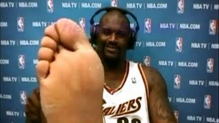 Shaquille O'Neal feet
