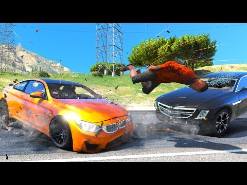 No Seatbelt Car Crashes - GTA 5 Ragdolls Compilation (Euphoria Physics)