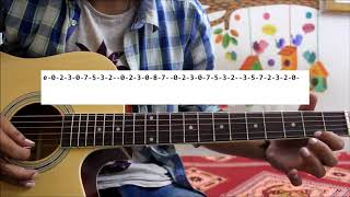 3 Single String Tunes For SUPER BEGINNERS - Hindi Guitar Tabs / leads lesson chords
