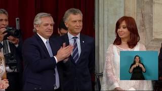 El saludo entre Mauricio Macri y Cristina Fernández en el Congreso