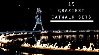 15 Of The CRAZIEST Fashion Show Sets!