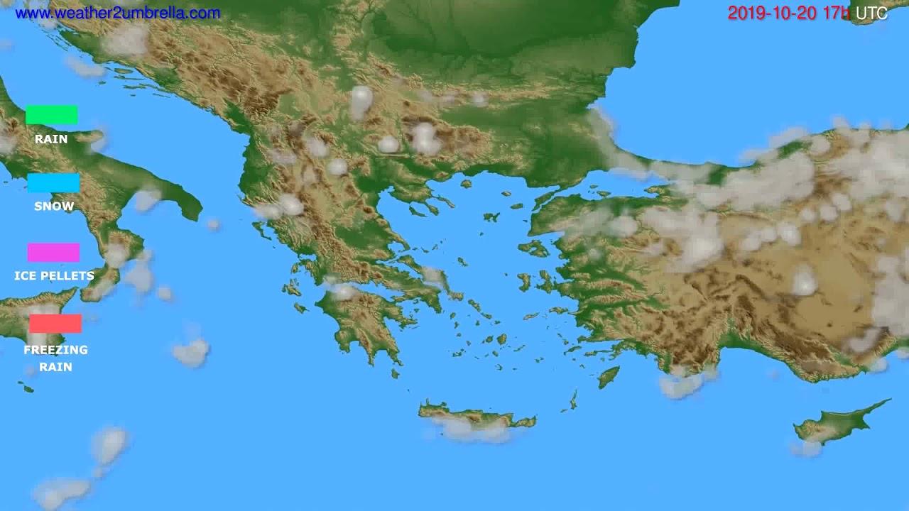 Precipitation forecast Greece // modelrun: 00h UTC 2019-10-19
