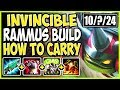 INVINCIBLE TOP LANE RAMMUS BUILD HOW TO CARRY 1v9 WITH RAMMUS TOP Rammus vs Kled Season 9 Gameplay