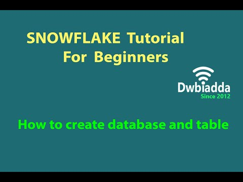 Download How To Create Database And Table In Snowflake | Nella Lovers