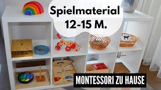 SPIELMATERIAL für KLEINKINDER 12-15 MONATE || MONTESSORI ZU HAUSE