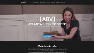 Silver 2019 W3 Award: Atlanta Business Video Website