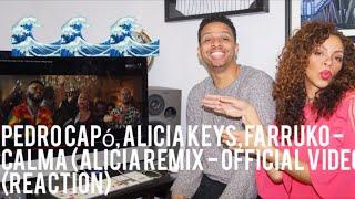 Pedro Capó, Alicia Keys, Farruko - Calma (Alicia Remix - Official Video)  (reaction)
