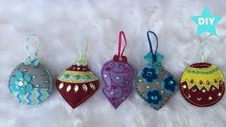 DIY Felt Christmas Ornaments, How To Make Felt Christmas Decor, DIY Christmas Decor, Felt Crafts