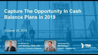 Capture the Opportunity in Cash Balance Plans in 2019