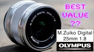 The Best Value Lens For Amateur Photographers? Olympus M.Zuiko 25mm f1.8 Premium Lens - Red35 Review