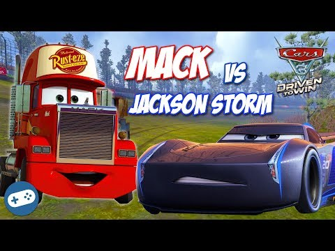 MACK VS JACKSON STORM Cars 3 Driven To Win Gameplay Race On PS4