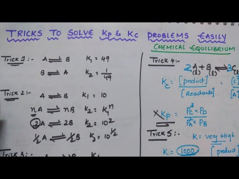Tricks to Solve Kp and Kc Problems Easily | Chemic | Youtube