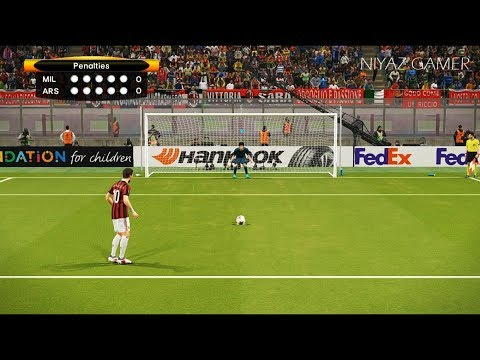 AC MILAN vs ARSENAL | UEFA Europa League | Penalty Shootout | PES 2018 Gameplay PC