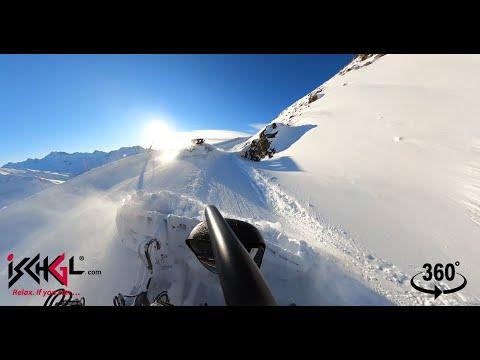 360° Video Pistenbullyfahrt, Ischgl-Samnaun, März 2020