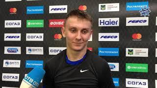 Глеб Зайцев о матче и первой шайбе