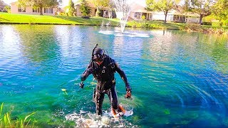 Treasure Hunting In Subdivision POND! (Interesting Finds!!) - Video Youtube