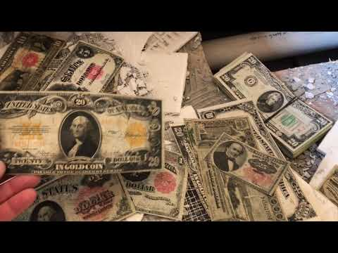amazing treasure Found and A Hole In The Floor Old Money Silver Coins