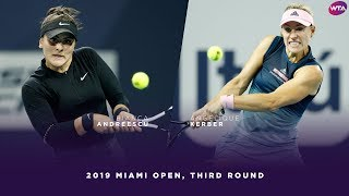 Bianca Andreescu Vs. Angelique Kerber | 2019 Miami Open Third Round | WTA Highlights