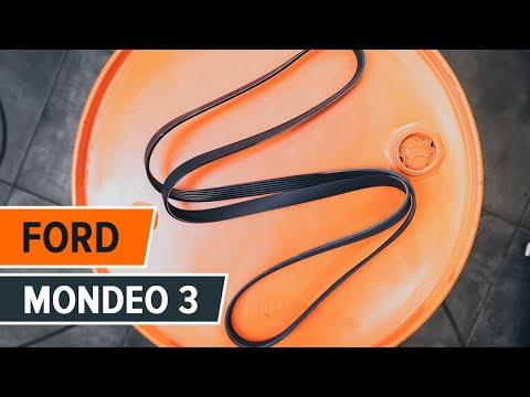 Tutorial: Come sostituire Cinghia Poly-V, Rullo tendicinghia  su FORD MONDEO 3