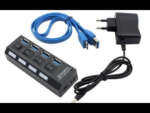 USB 3.0 концентратор хаб с отдельными четырьмя портами и внешним питанием