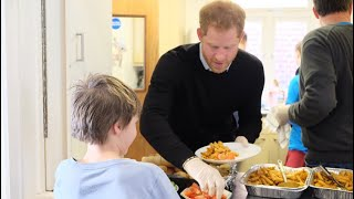 The Duke Of Sussex Prince Harry Feeds Children At 'Fit & Fed' StreetGames Campaign