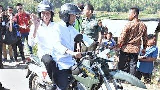 Pakai Motor Trail, TGB Bonceng Presiden Jokowi saat Berkunjung di NTB