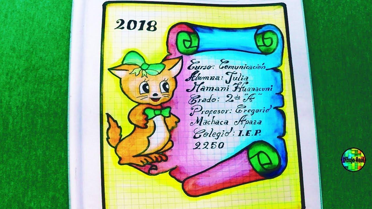 Como Dibujar Caratulas Para Cuadernos Faciles-Pergamino