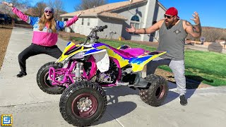 Pranking My Husband With the WORST Paint Job on his Brand New ATV