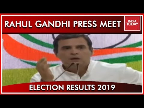 Rahul Gandhi Addresses Press Conference; Congratulates Modi And BJP | Results 2019 (видео)