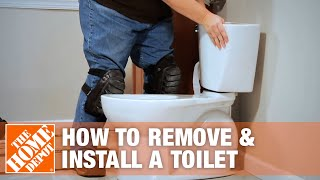 How to Remove and Install a Toilet   The Home Depot