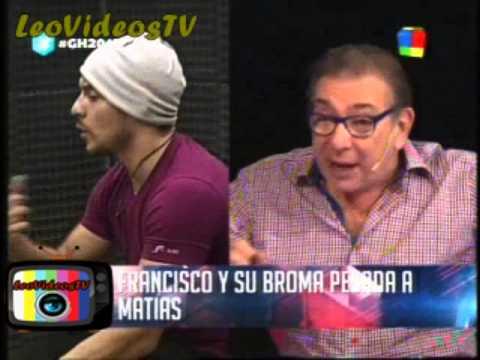 La pesada y desagradable broma de Francisco a Matias GH 2015 #GH2015 #GranHermano