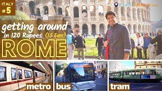Rome: Public Transport for Tourists | tips and tricks