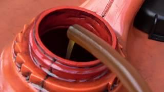 Waste automotive oil distiller test run day 3. 24L per hour.